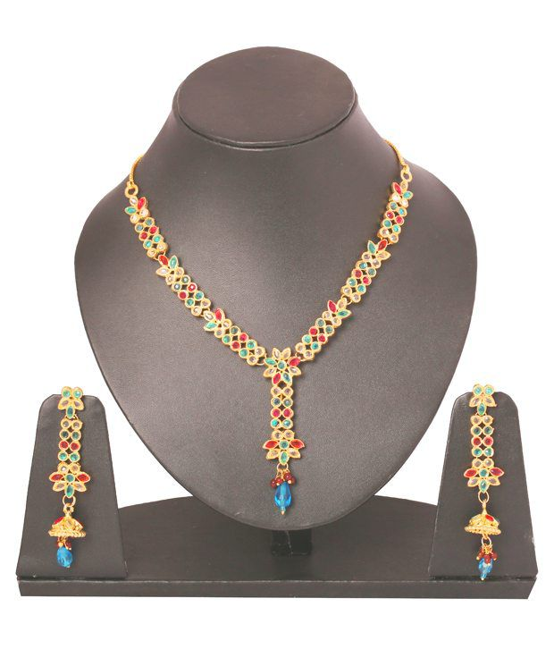Touchstone Exquisite Floral Precision Necklace Set