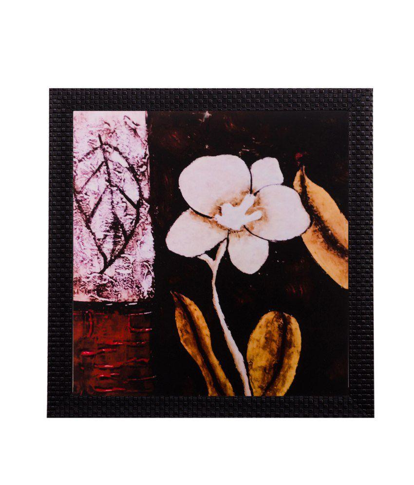 eCraftIndia Floral Matt Textured Framed UV Art Print