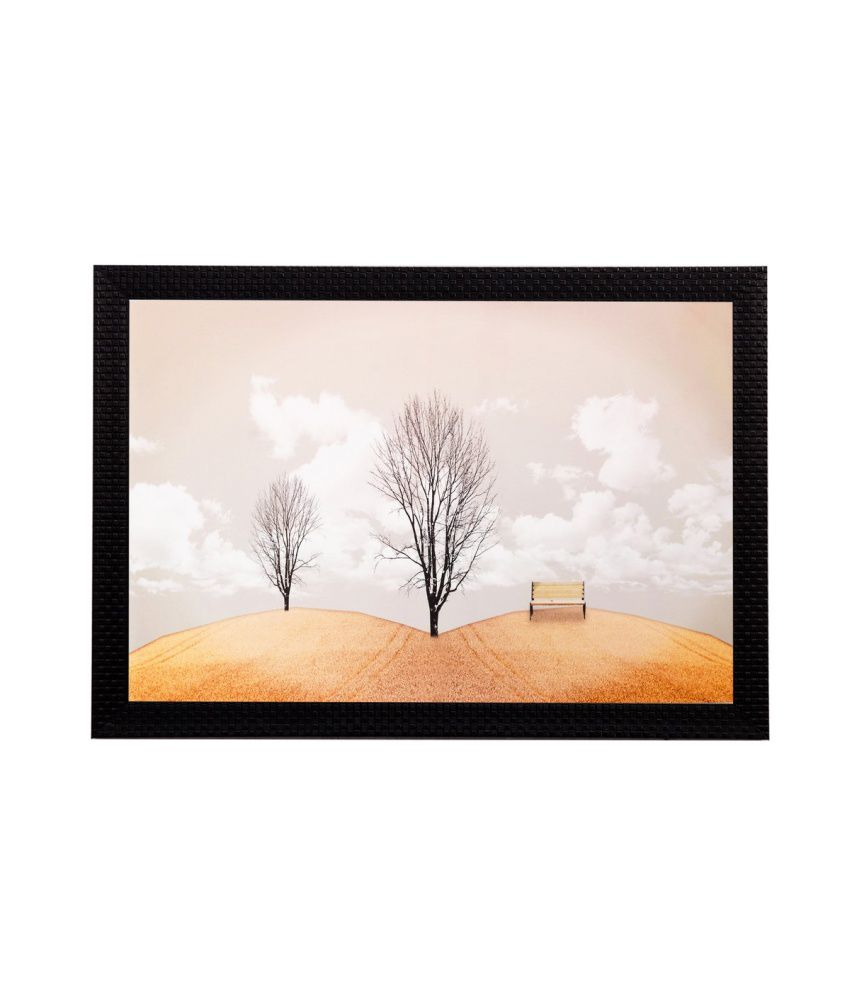 eCraftIndia Leafless Tree Matt Textured Framed UV Art Print