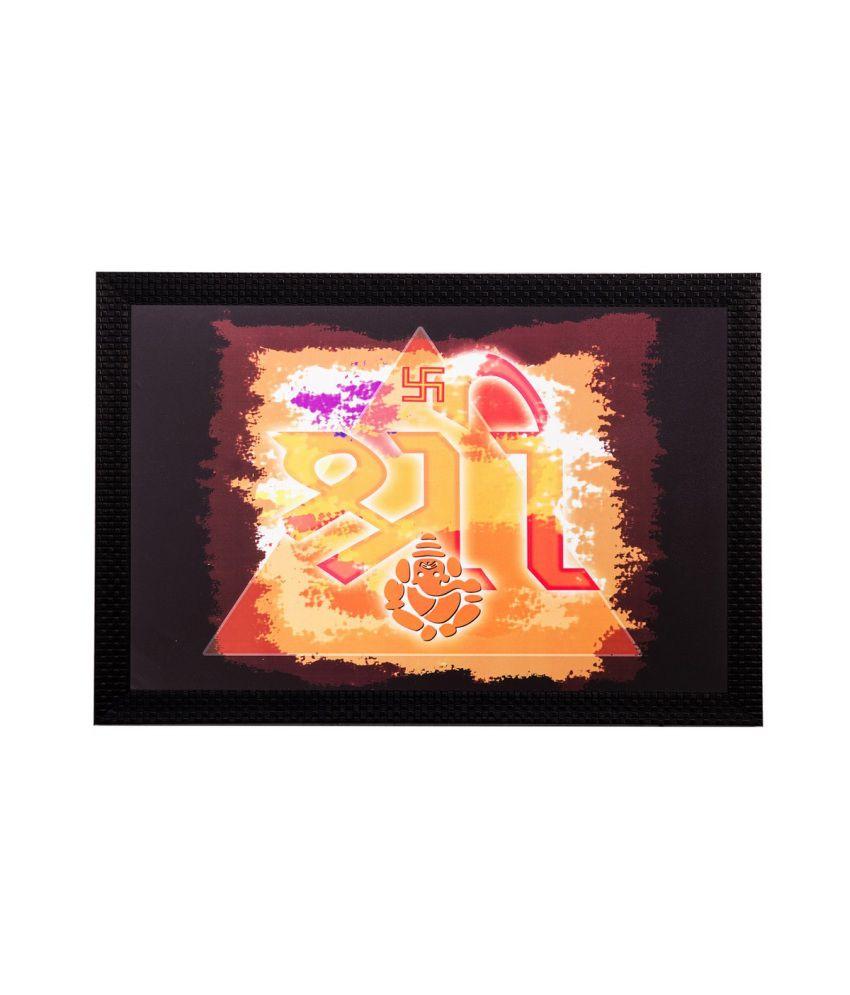 eCraftIndia Religious Shree Matt Textured Framed UV Art Print