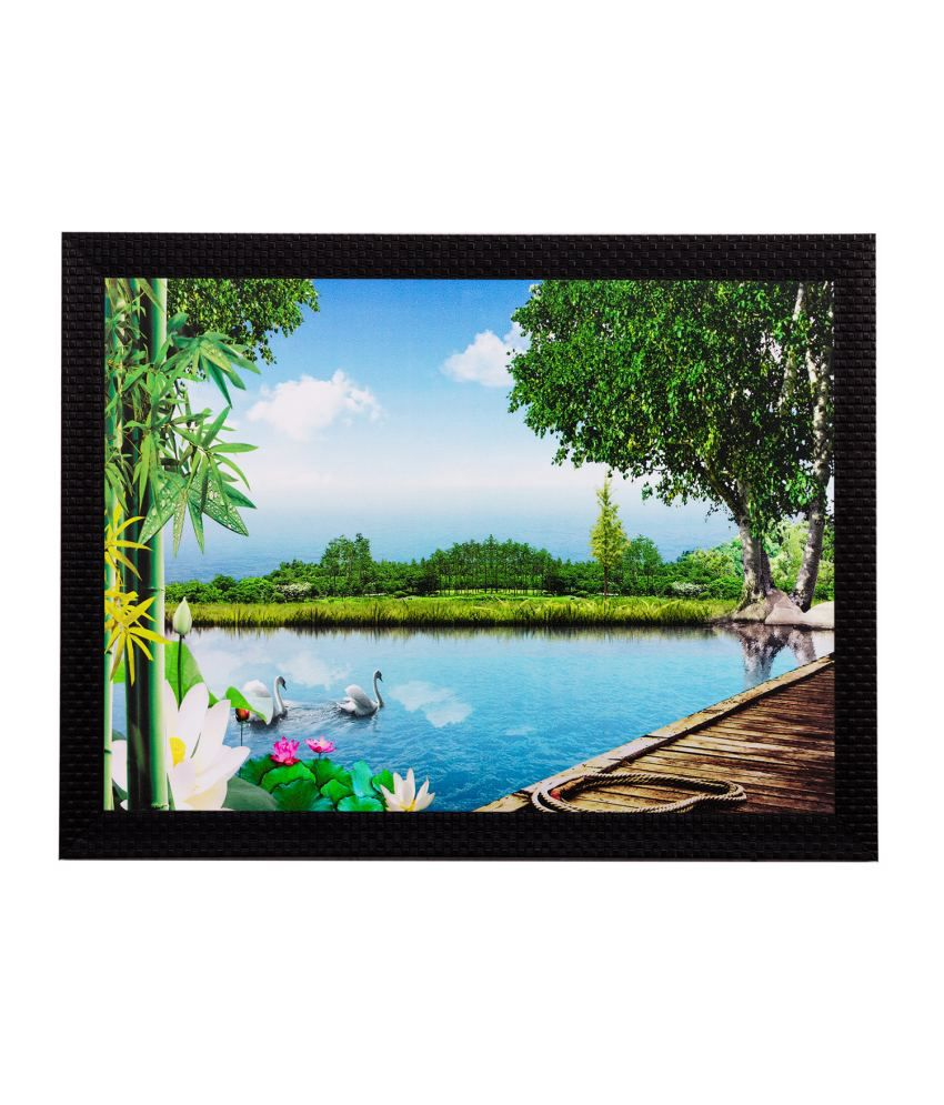 eCraftIndia Scenery View Matt Textured Framed UV Art Print