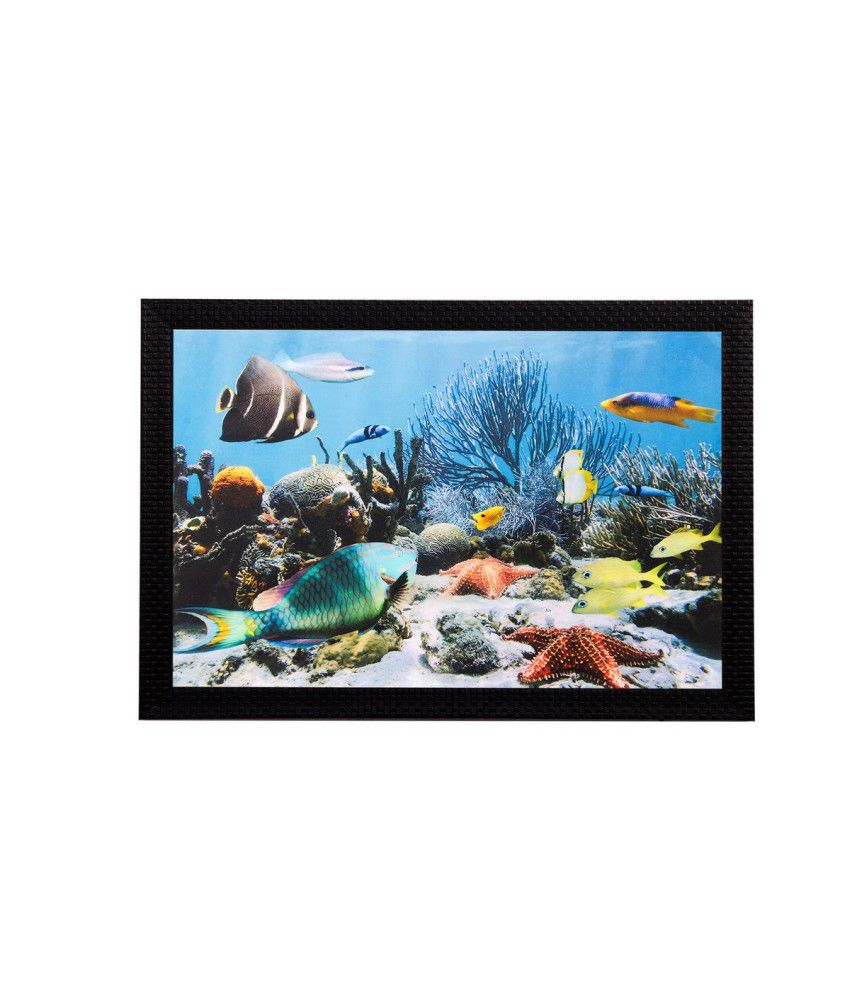 eCraftIndia Underwater View Matt Textured Framed UV Art Print