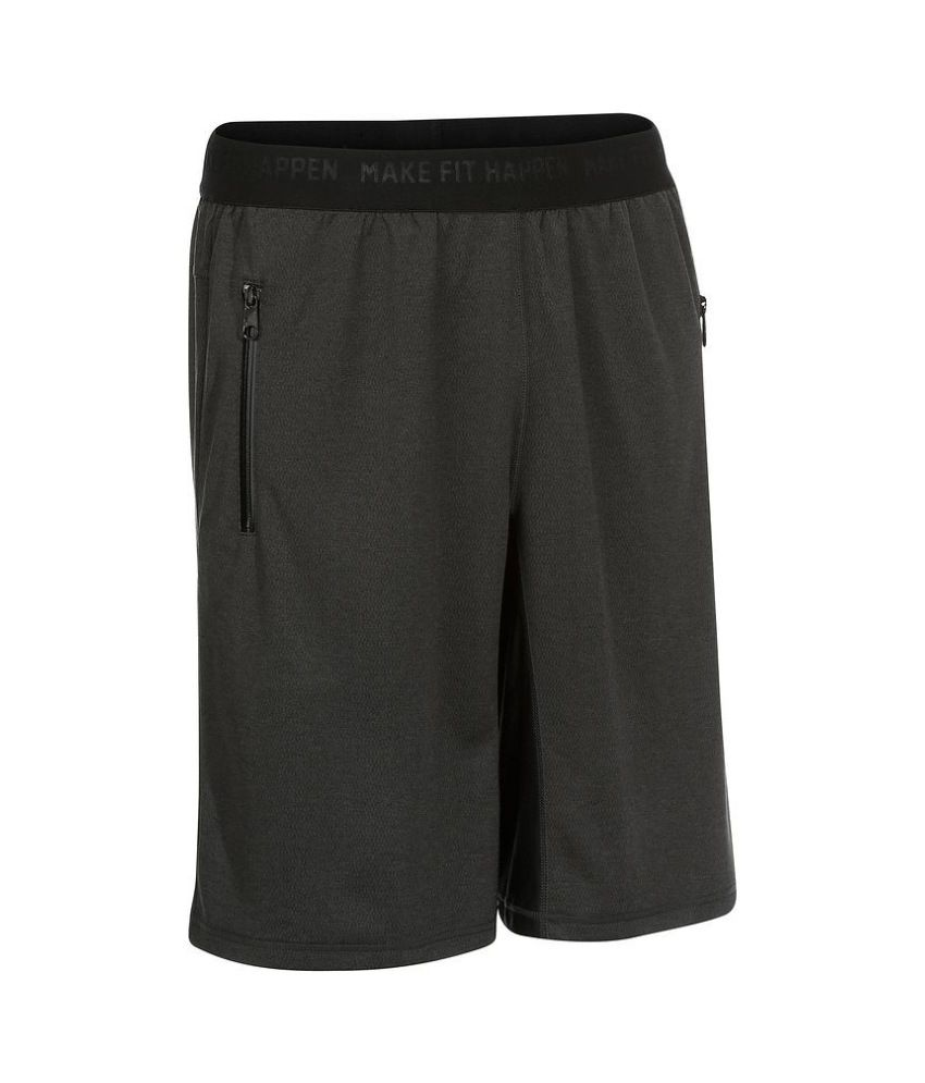 DOMYOS Back Support Double Sh Men's Strength Training Shorts By Decathlon