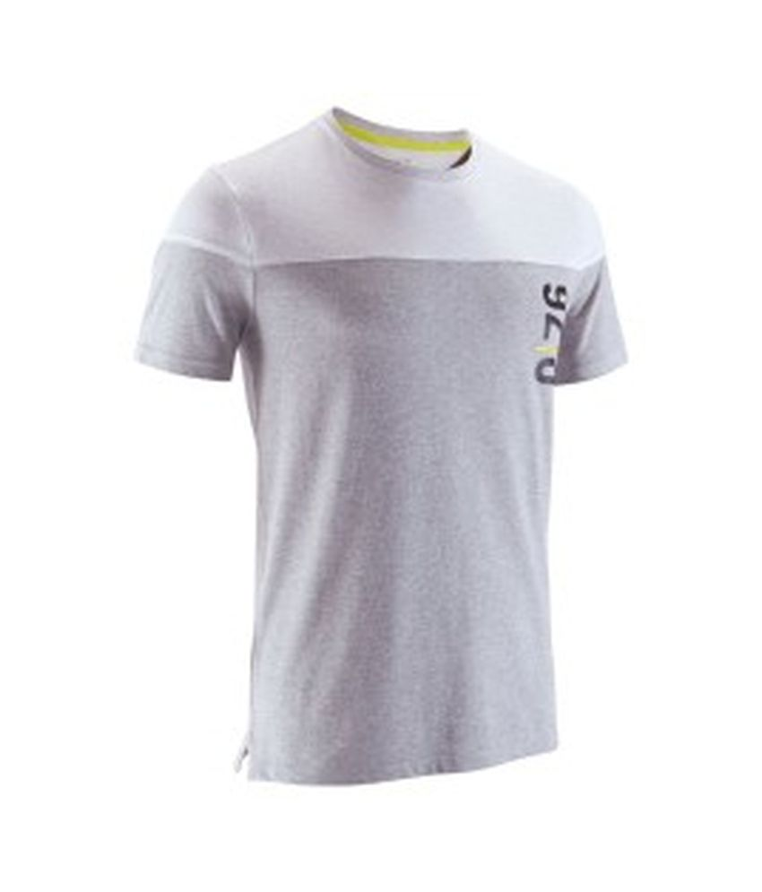 DOMYOS Comfort Plus Hor Men's Fitness T-Shirt By Decathlon
