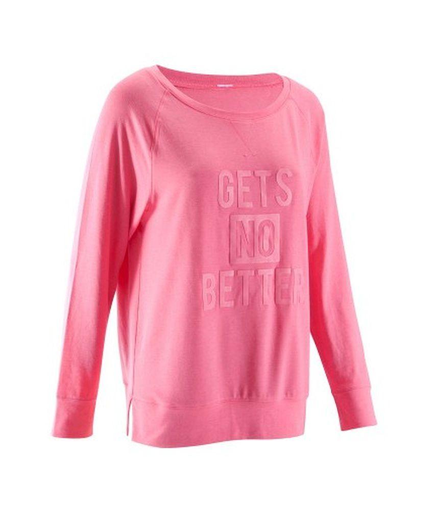 DOMYOS Comfort Tsml Women's Fitness Long Sleeved T-Shirt By Decathlon