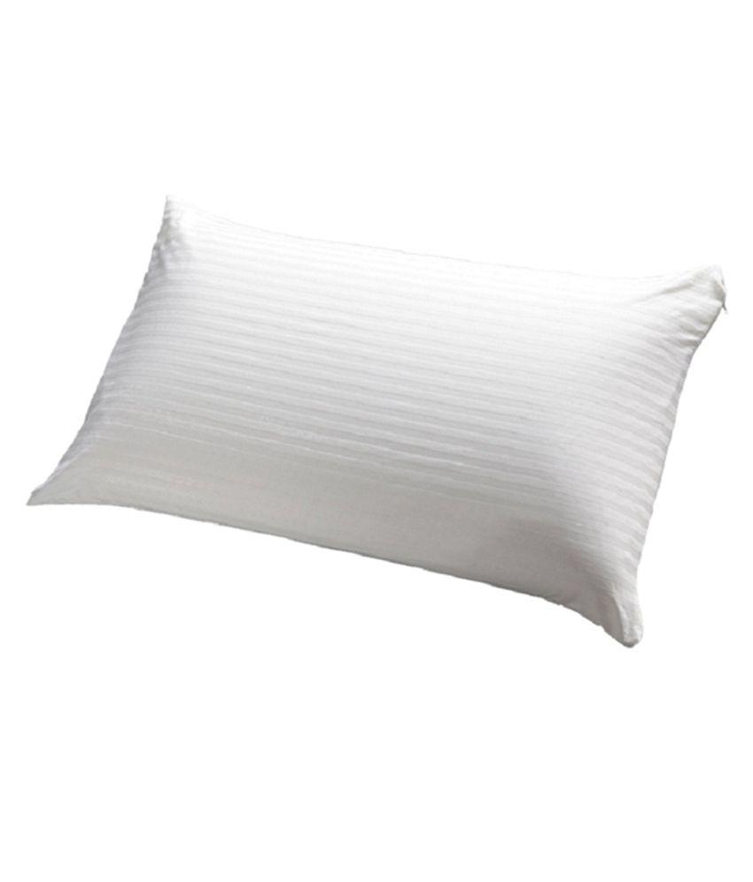 JDX White Polyester Pillow