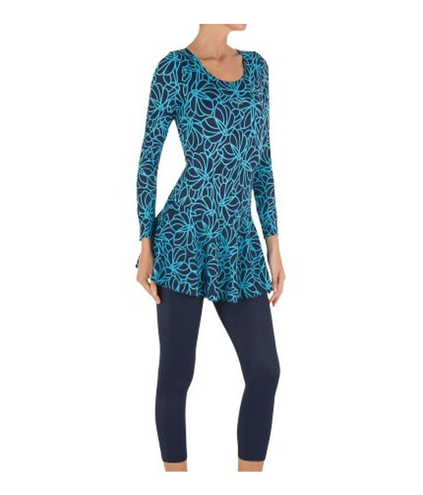 NABAIJI Audrey Sleeves Leg All Map Women's Swimwear By Decathlon/ Swimming Costume