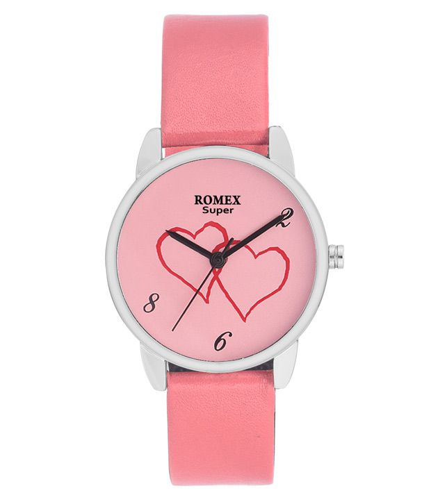 Romex Super Romex Super Pink Leather Wrist Watch For Women
