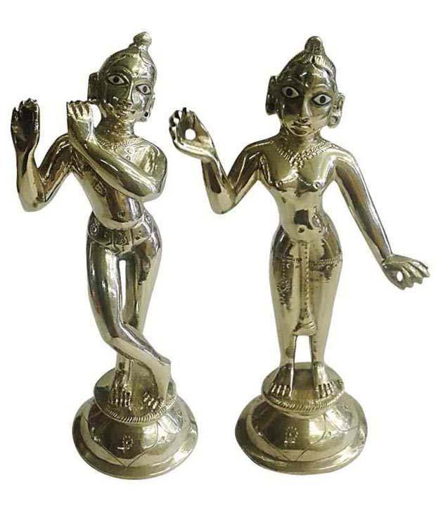 93ab98d4f46 Shri Radha Krishna Venture Radha Krishna Brass Idol - Pack of 2  Buy Shri  Radha Krishna Venture Radha Krishna Brass Idol - Pack of 2 at Best Price in  India ...