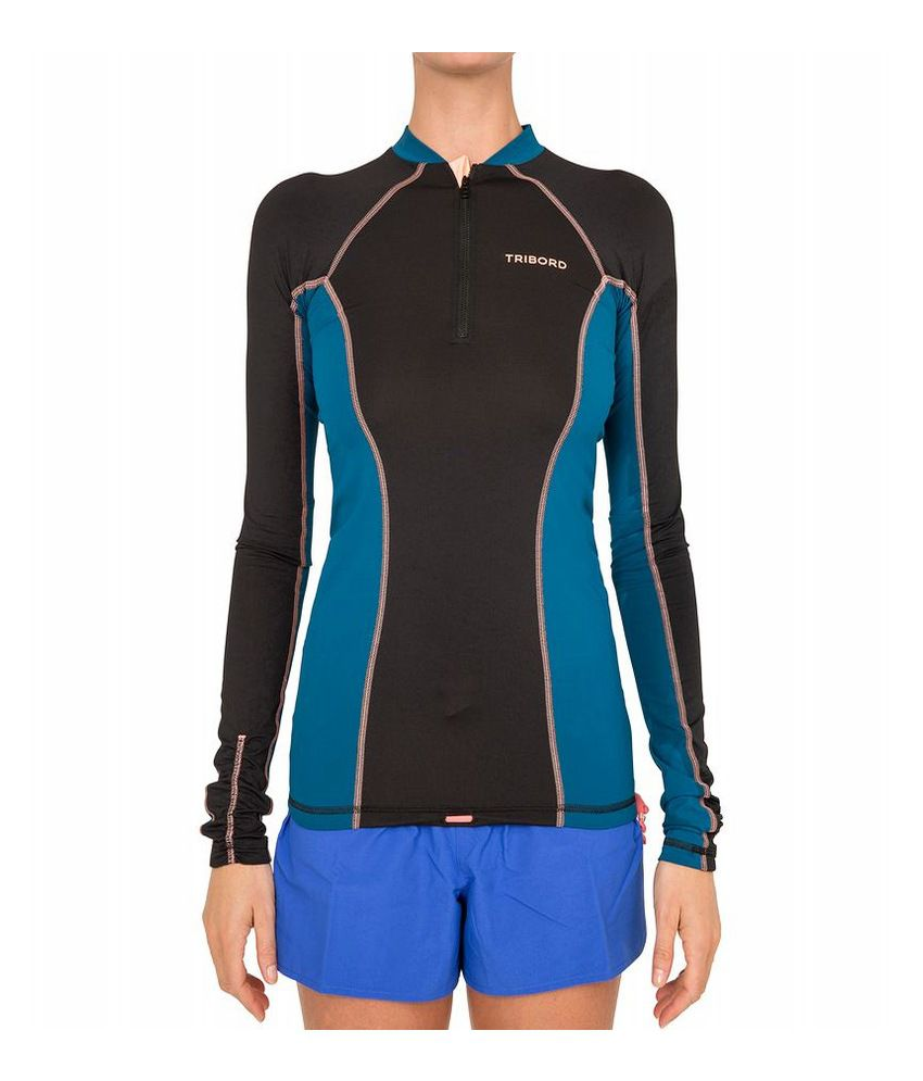 TRIBORD UV Ride Long Sleeves Women Rash Vest By Decathlon