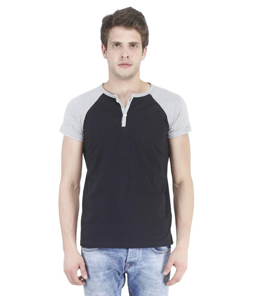 Bonzer Black Henley T Shirts