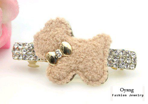 Oyang Imported Free shipping Oyang Cute Dog Jewelry Crystal Hair Clips Hairpin for hair clip hairpins Beauty Tools