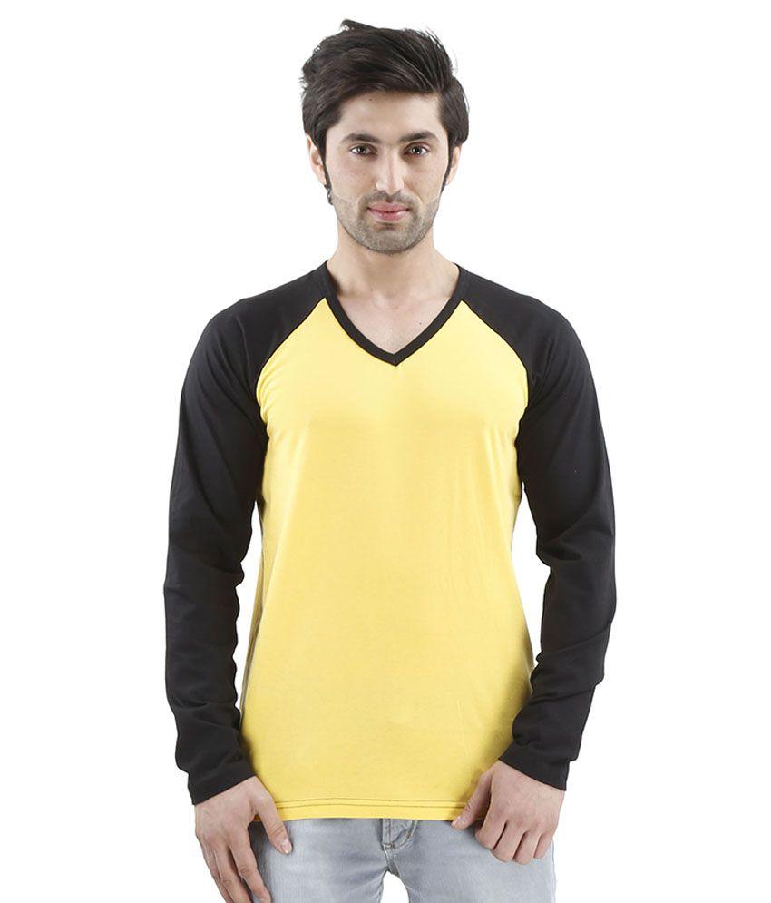 Inkovy Yellow V-Neck T Shirts
