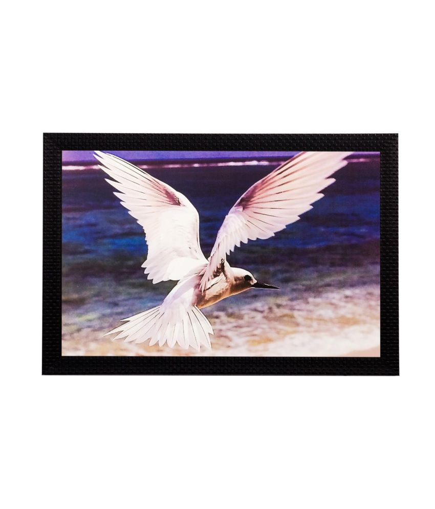 eCraftIndia Flying Bird Matt Textured Framed UV Art Print