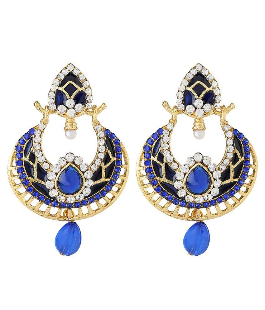 Castle Street Blue Alloy Hanging Earrings