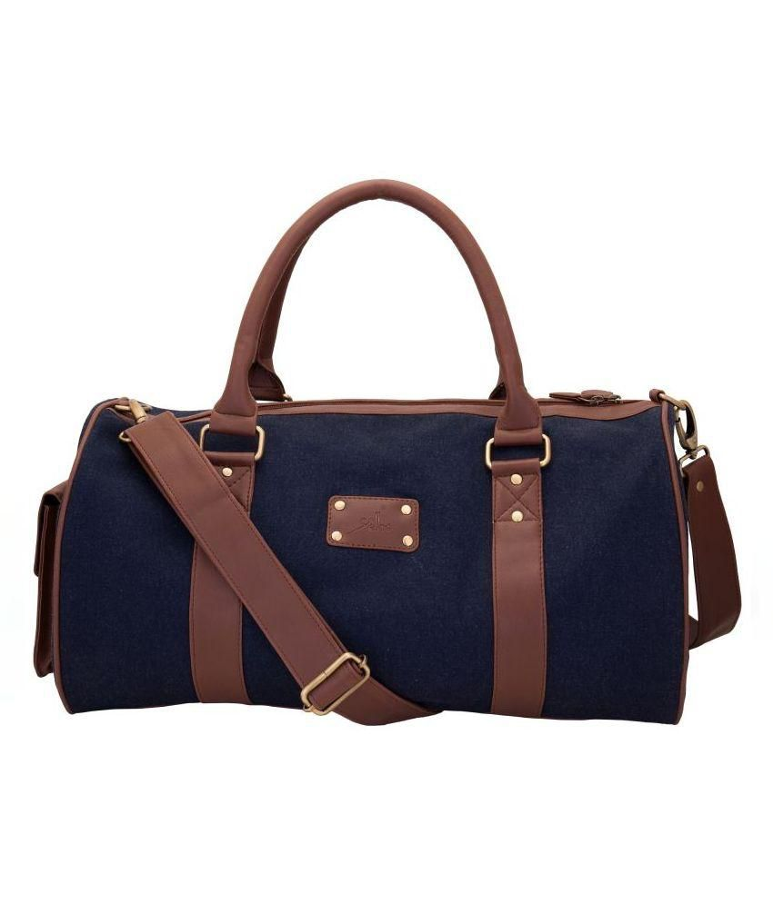Yelloe Navy Blue Polyester Duffle Bag - Buy Yelloe Navy Blue Polyester  Duffle Bag Online at Low Price - Snapdeal 6405ac80d5d7c