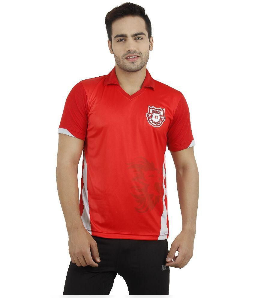 T10 Sports KXIP Red Henley T-Shirt