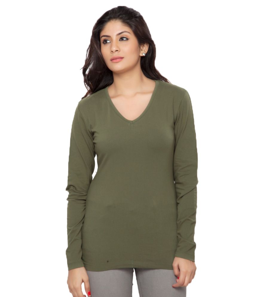 Clifton Green Full Sleeves Tees for Women