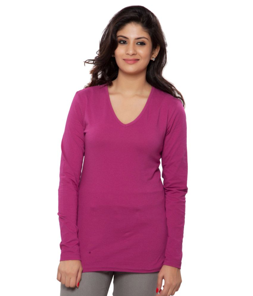 Clifton Pink Full Sleeves Tees for Women