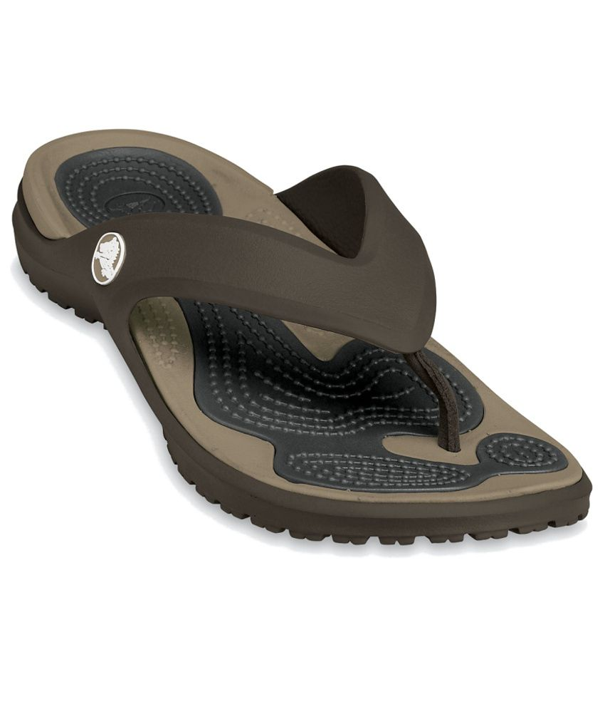 Crocs Relaxed Fit Brown Slippers & Flip Flops