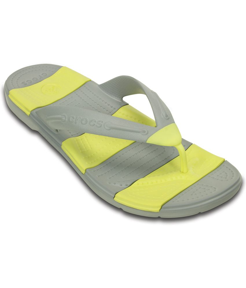 d97b75476f1f Crocs Yellow Slippers   Flip Flops Relaxed Fit Price in India- Buy Crocs  Yellow Slippers   Flip Flops Relaxed Fit Online at Snapdeal