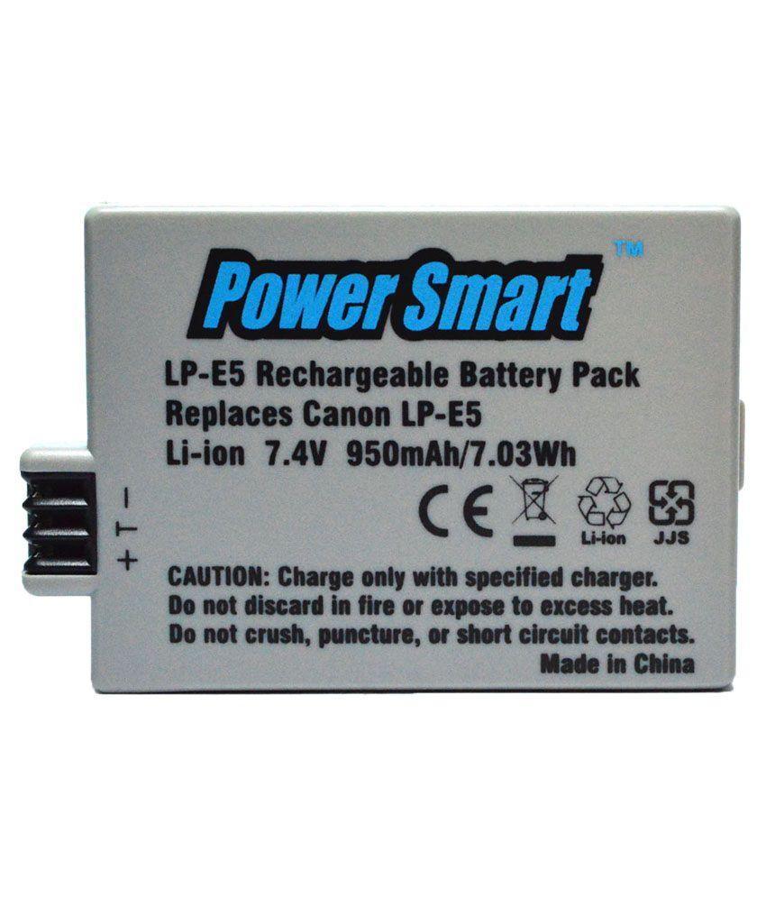 Power Smart 950 mAh 7.4V Li ion Battery for Canon LP E5