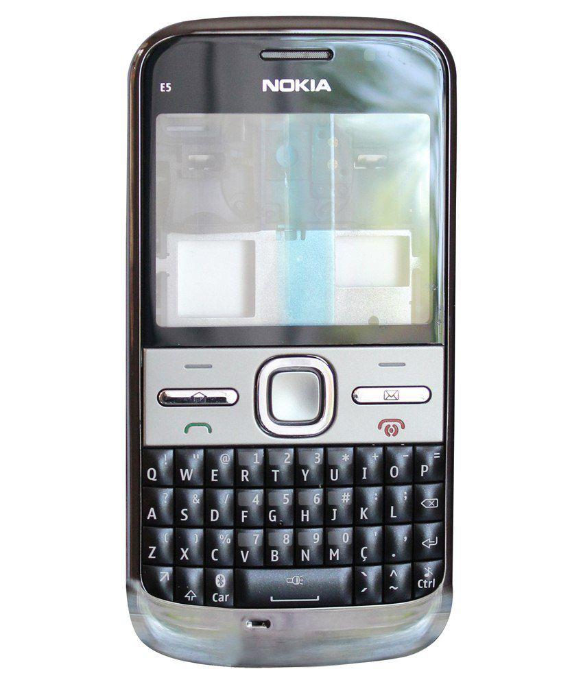 Original Nokia E5 Full Housing Body Panel 100% Genuine Free Sim  Adapter-Black