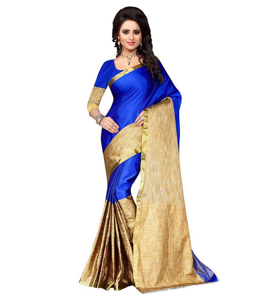 Pari Fashion Blue Cotton Saree
