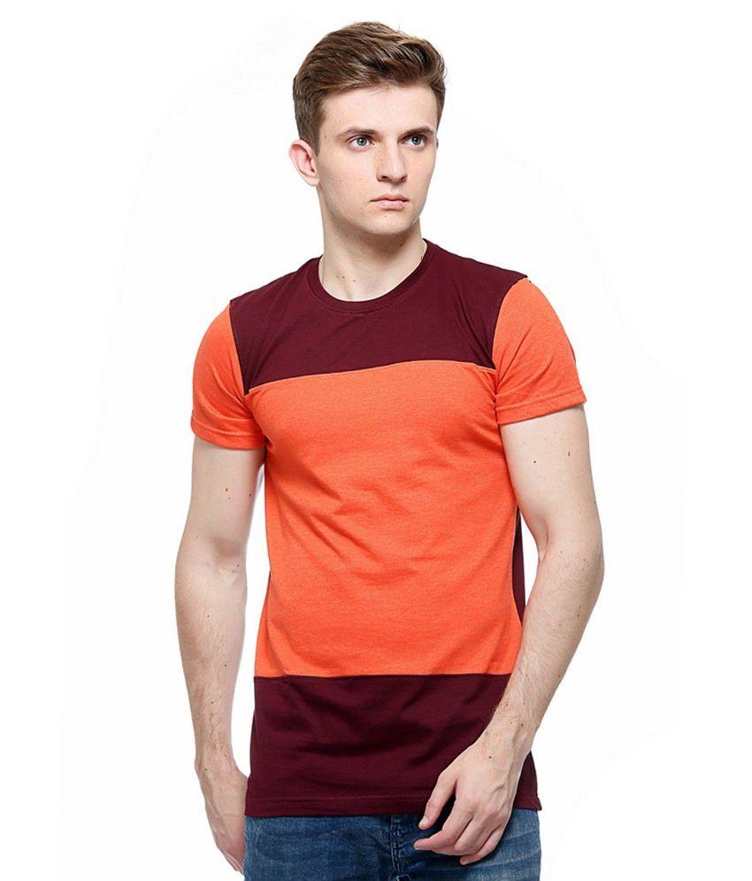 The Future Wear Orange Round T Shirts