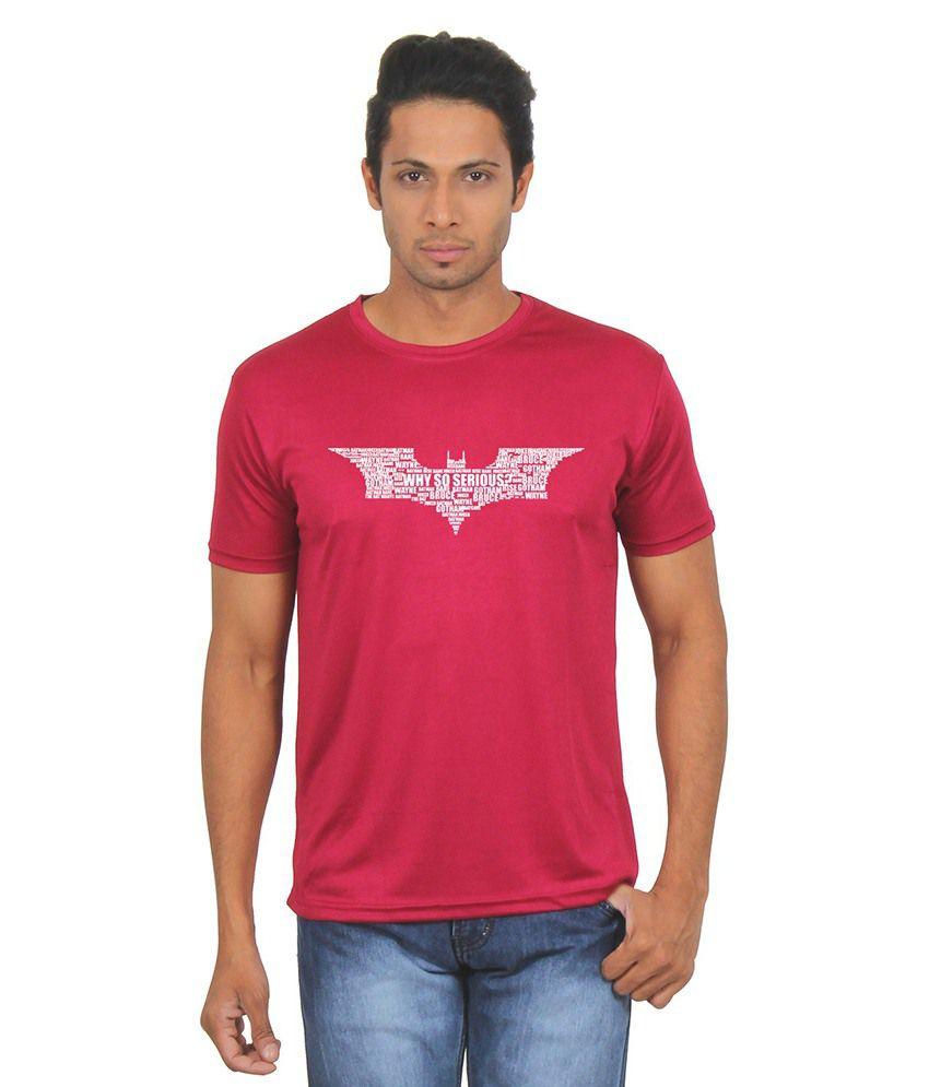 FanIdeaz Maroon Round T Shirts