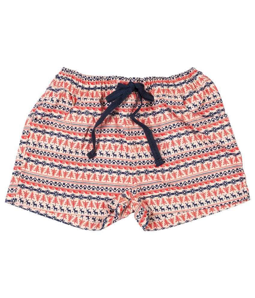 Tickles Multicolour Cotton Shorts for Girls