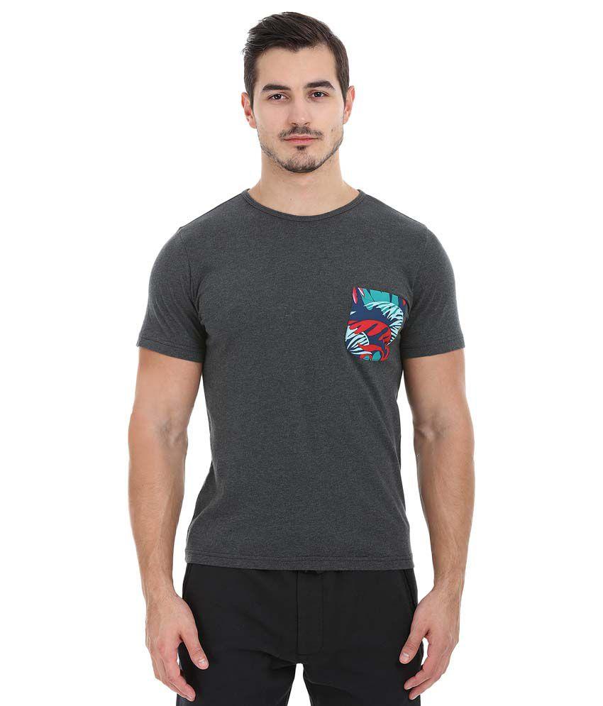 Zobello Grey Round T Shirts