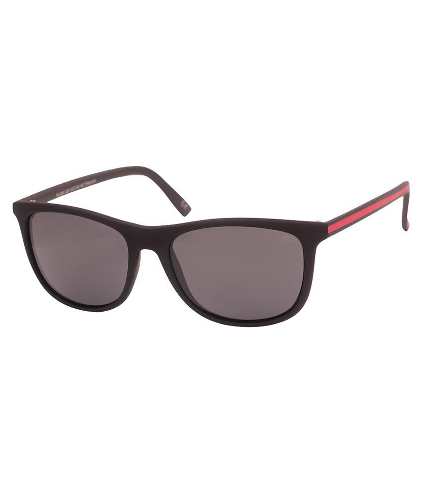 Barcode Black Rectangle Sunglasses