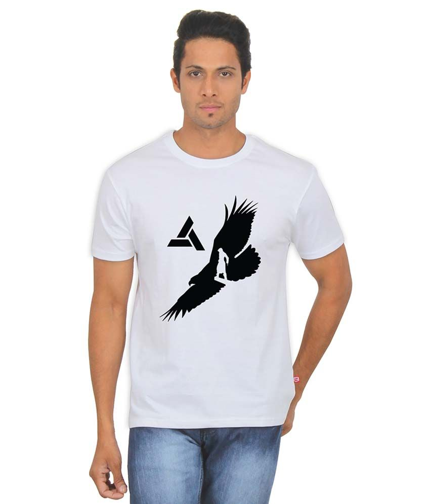 Fanideaz assassin 39 s creed eagle eye white silky polyester for Polyester t shirts for men
