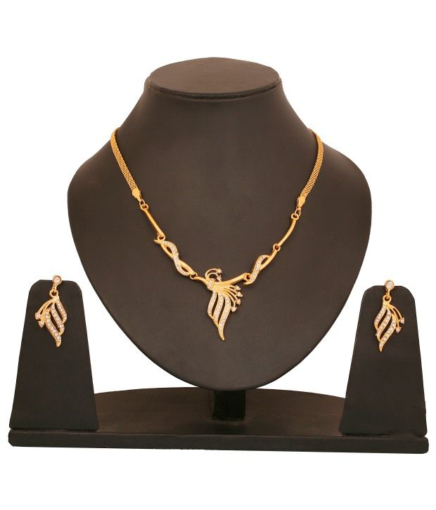 Touchstone Elegant Gold Plated Necklace Set