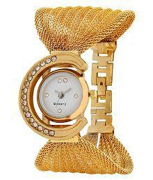 Aaradhya Fashion Golden Fancy Jaal Watch For Women
