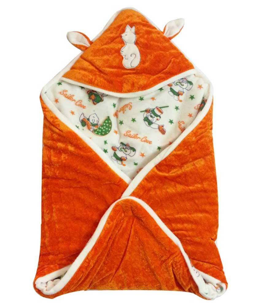 Aaaao Baby Orange Cotton & Polyfill Baby Wrap
