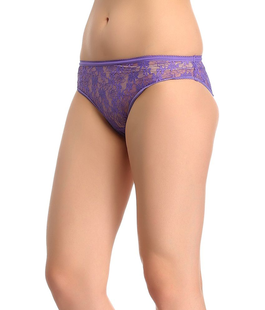 93870c612 Buy Clovia Purple Lace Panties Online at Best Prices in India - Snapdeal