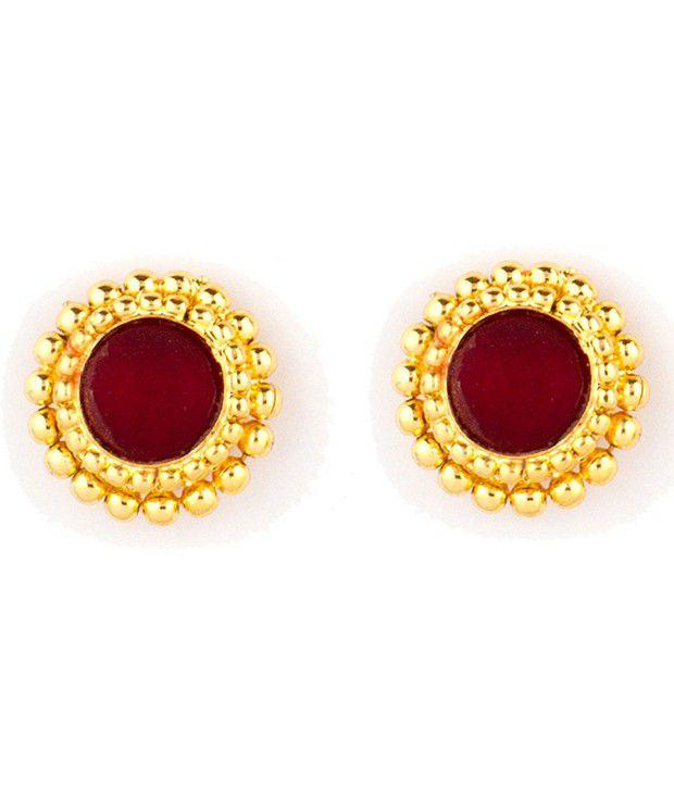 Womens Trendz Golden Alloy Stud Earrings
