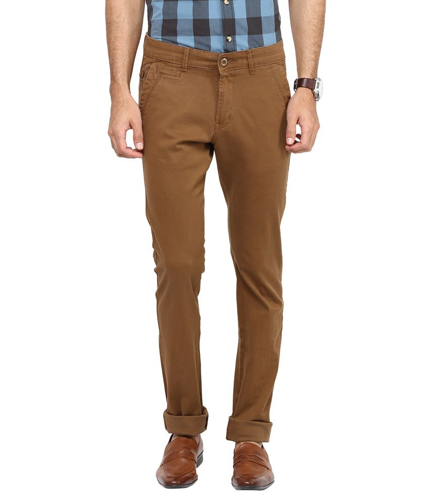 Urban Navy Khaki Slim Fit Chinos