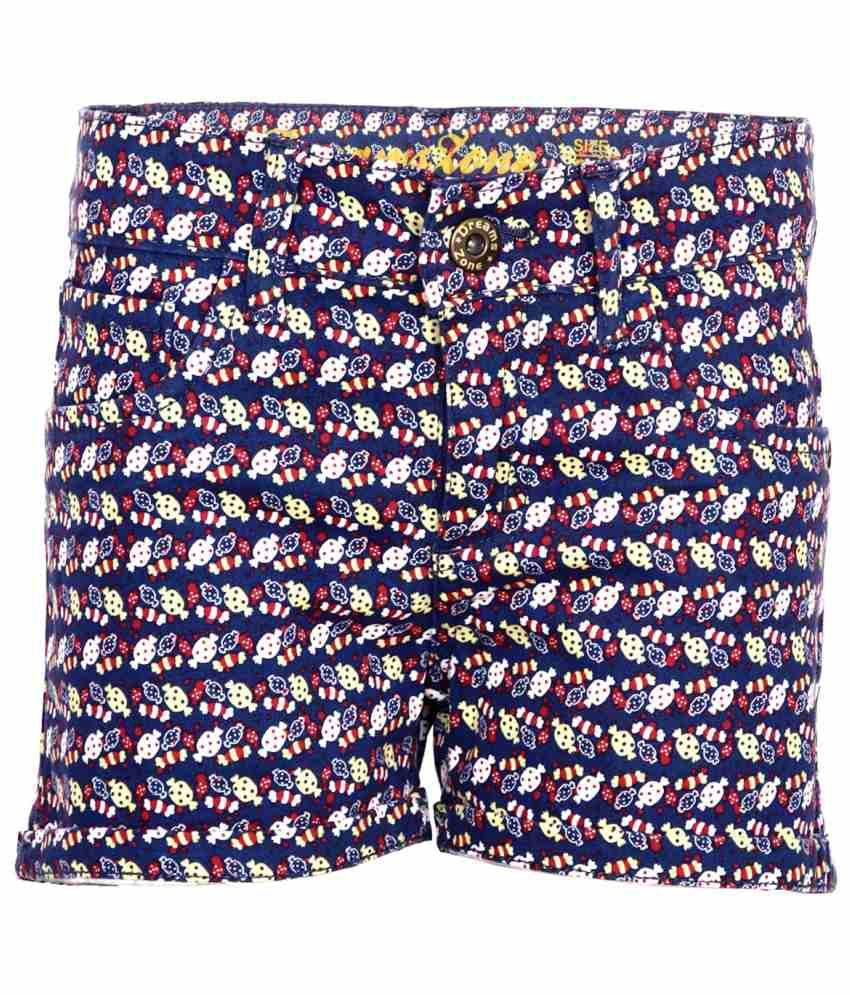 Dreamszone Multicolour Cotton Blend Shorts