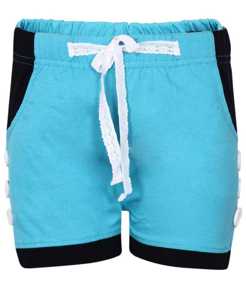 Dreamszone Turquoise Cotton Blend Shorts
