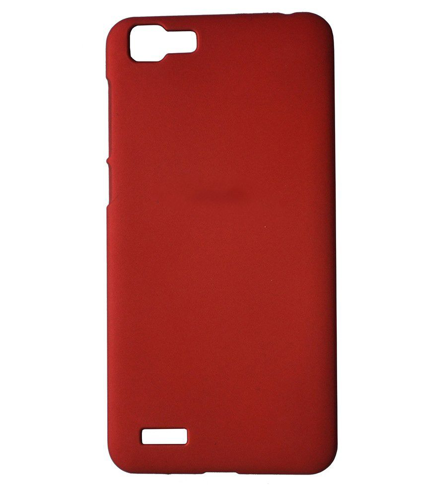 lowest price ded2a ea346 Elomo Back Cover For Vivo V1-Red - Plain Back Covers Online at Low ...