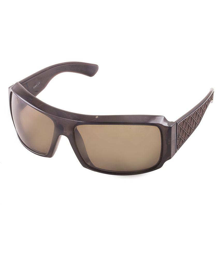 Gucci Brown Rectangle Sunglasses