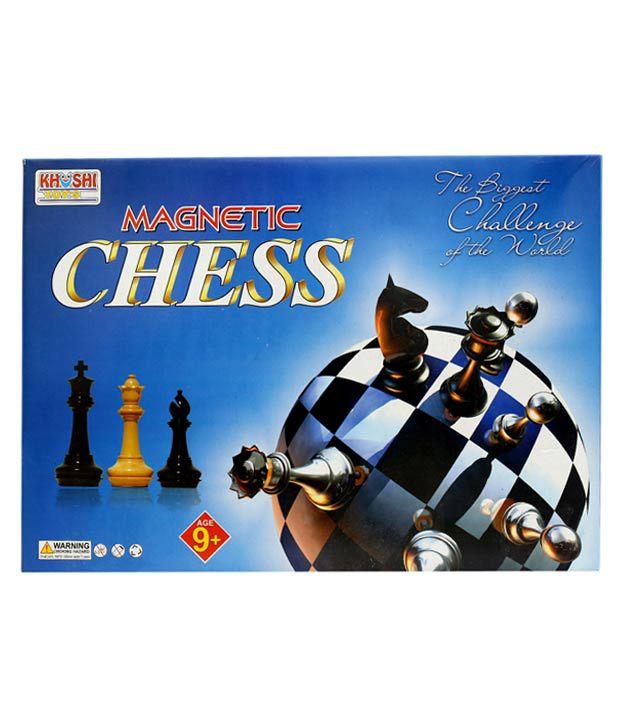 Jupiter Enterprises Multicolor Metal Magnetic Chess Board