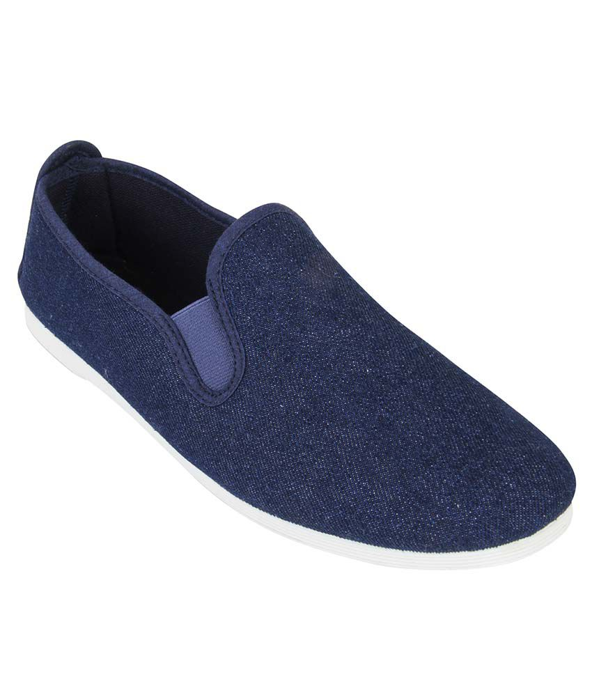 f6e1395ef6e4 Scentra Blue Slip on Shoes available at SnapDeal for Rs.1750