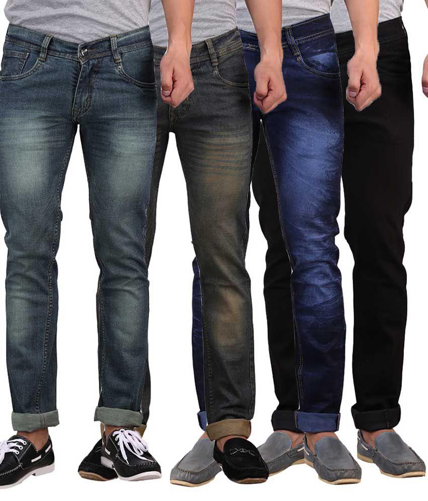 X-Cross Multi Slim Fit Jeans Pack Of 4