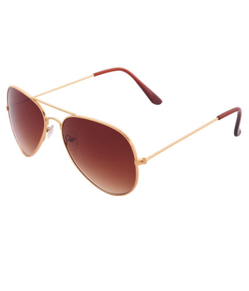 Daller Brown Aviator Sunglasses