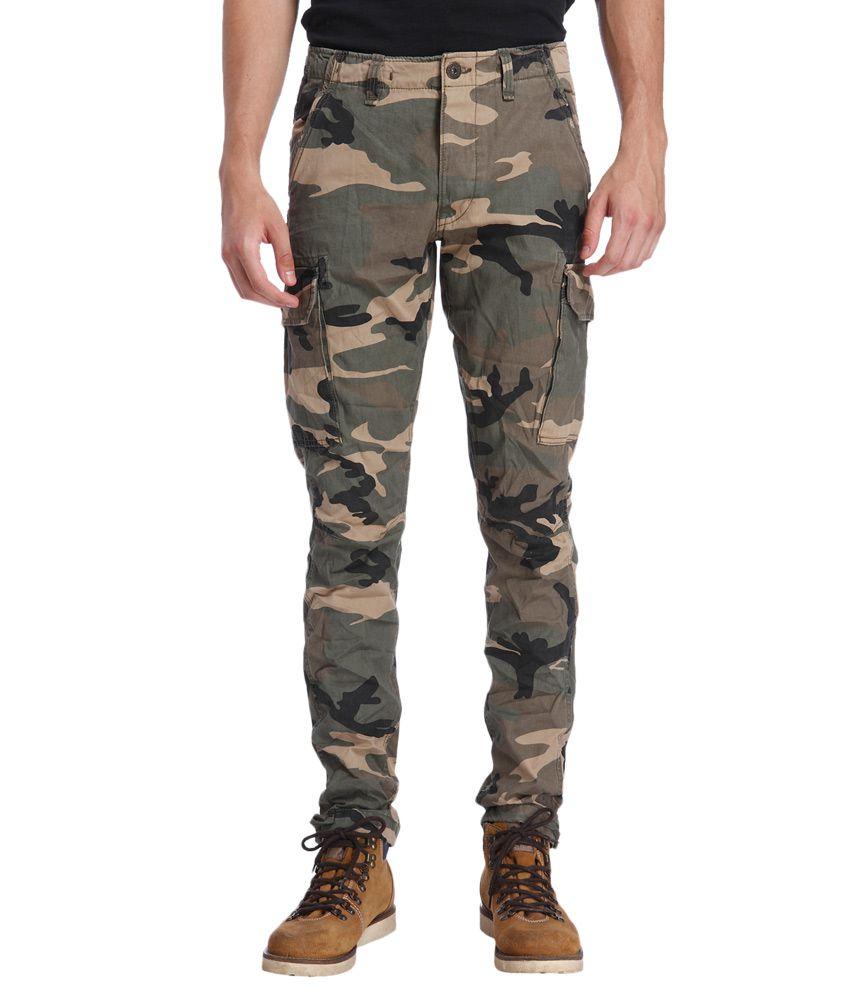 Jack & Jones Green Regular Fit Cargo Pants