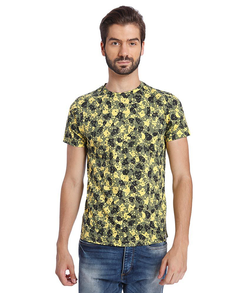 Jack & Jones Yellow Round Neck T Shirt